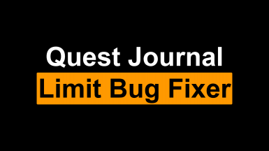 Quest Journal Limit Bug Fixer - Recover Disappeared Quests