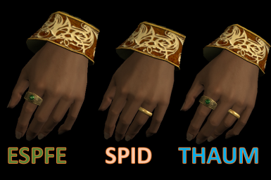 Left Hand Rings Modified SPIDfied - Optional Thaumaturgy Patch