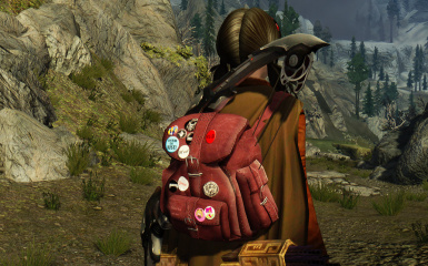 Leather Backpack HD Textures All Craftable