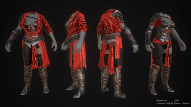 Crimson Twilight Armor - CBBE SSE