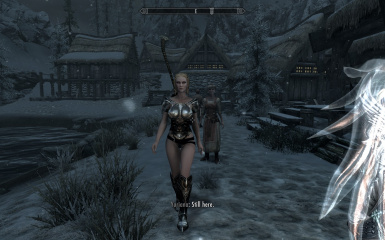 wench in ebony armor