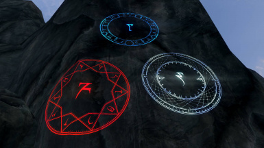 Fire, Frost, and Lightning Runes Ingame