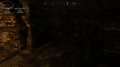 Large mead barrel near training room