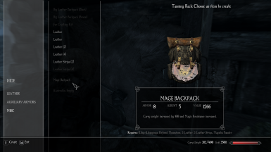 Bag Stats in Inventory