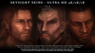 SkySight Skins - Ultra HD 4K 2K Male Textures and Real Feet Meshes
