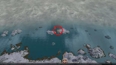 frozen shield location circled