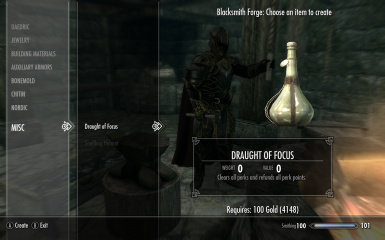 Draught of Focus Crafting