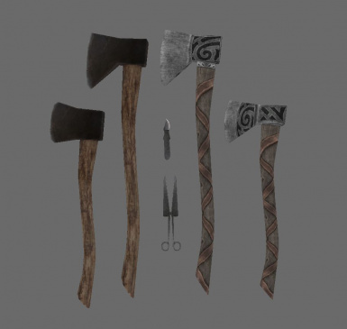 Tools - Axes knife and scisoors