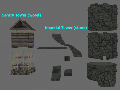 Towers in parts