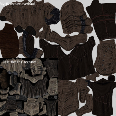 male cuirass texture comparison