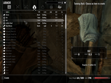 Craftable Clothing