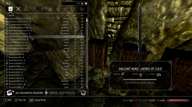 Ancient Nord Sword Of Cold