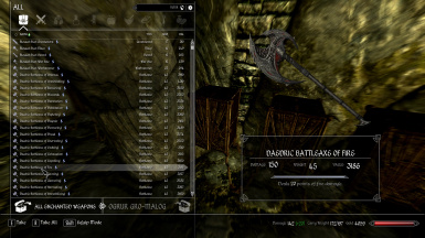 Daedric Battleaxe Of Fire