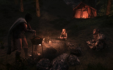 SS04 campfire and cooking pot