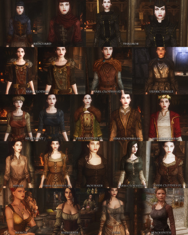 Rustic Clothing Header Female