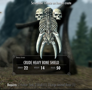 Crude Bone Shield - also available in Light