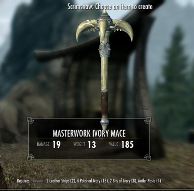 Masterwork Ivory Mace - normal and crude versions