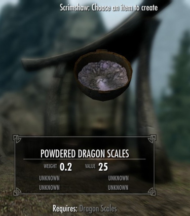 New Ingredient - Powdered Dragon Scales