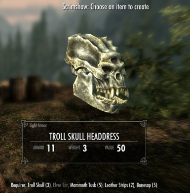 Troll Skull Headdress