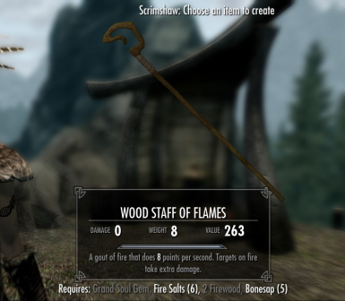 Wood Staff - one of 13 craftable magic staffs