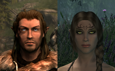Wood Elves with Natural Eyes