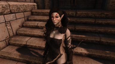 Dunmer with EEO and Improved Eyes Skyrim