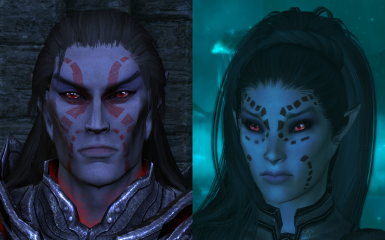 Dark Elves with Natural Eyes
