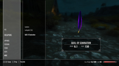 HD Quill of Gemination   Inventory