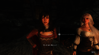 Serana can be asked to do favors while following
