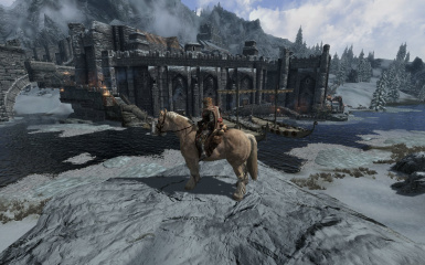 Windhelm Docks Pathways 23