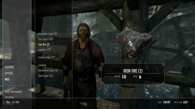 Crafting Material Weight Overhaul