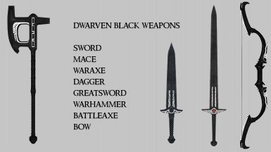 Dwarven Black Weapons