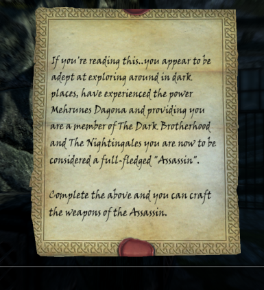 Assassins Note