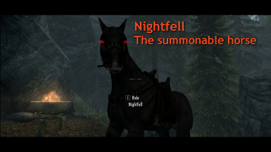 Nightfell the Summonable Dark Brotherhood Horse