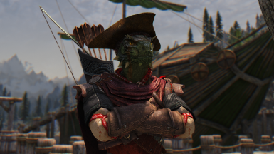 Walks-In-Shadows - Argonian Pirate Captain Follower