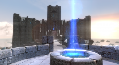 College of Winterhold Light Pillars FIX at Skyrim Special Edition