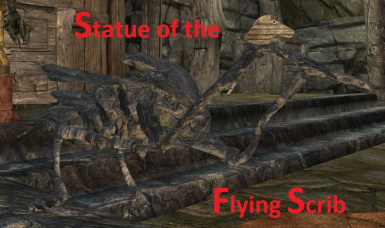 Statue of the  Flying Scrib