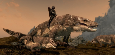 Prehistoric Wildlife Mounts and Followers SE at Skyrim