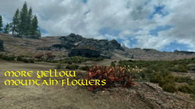 More yellow mountain flowers at skyrim special edition nexus mods screenshot70 screenshot72 distribution of yellow flowers compared to red flowers screenshot73 header mightylinksfo Images