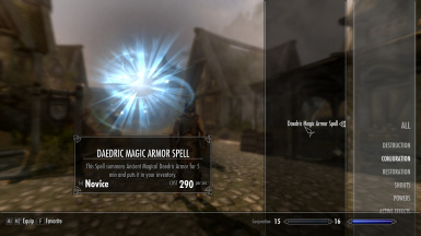 Daedric Magic Armor Spell