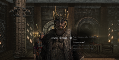 Ulfric Stormcloak wears the Jagged Crown