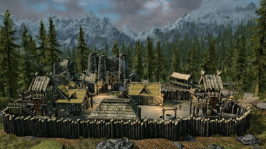 Haethgard Castle in the Great Forest of Whiterun Hold