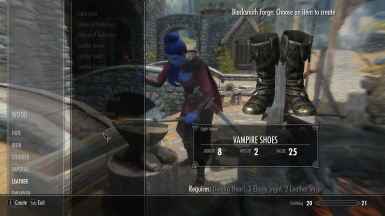 craftable Vampire Royal Armor