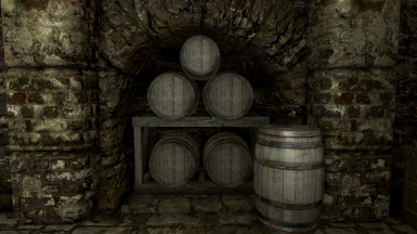 Nicely Stacked Barrels in training room