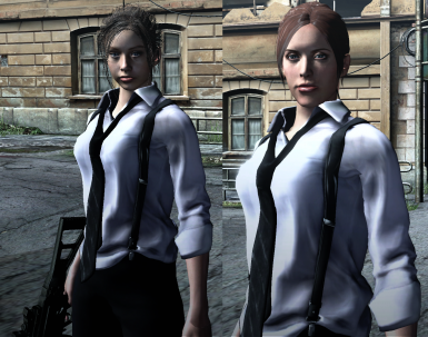 Claire Redfield noir (1998 and 2011) for Helena's default outfits