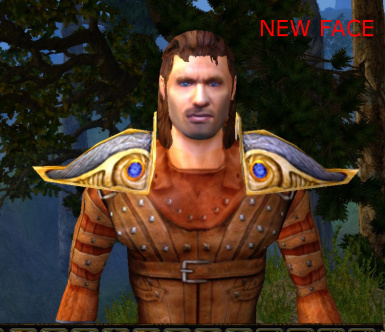 Default Human Male Face and Eye improvement