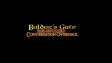 Baldur's Gate Reloaded Conversation Overhaul