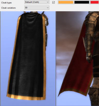 New Cloaks with more coloring options.