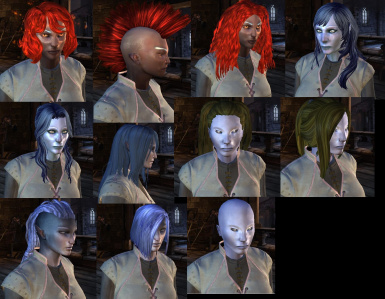 Adapted Hairs For Female Genasi