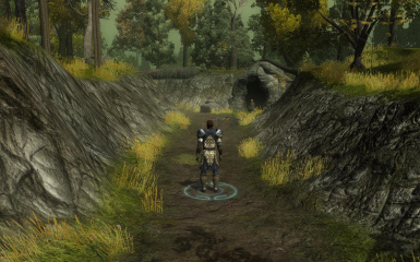 The path outside the cave